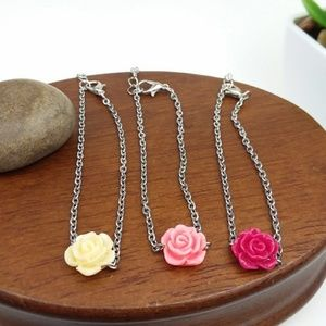 Final Price Rose Bead Choker Necklace